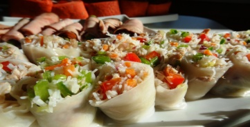 Stuffed Rice Wrappers